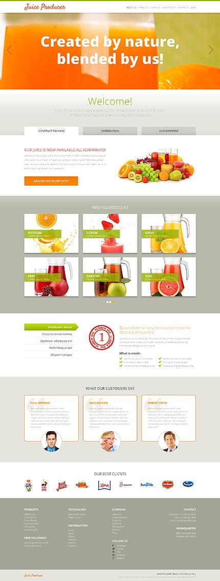 Juice Manufacturer WordPress Theme