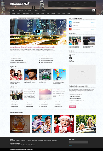 Top 20 Fresh Media WordPress Themes 2015 - colorlib