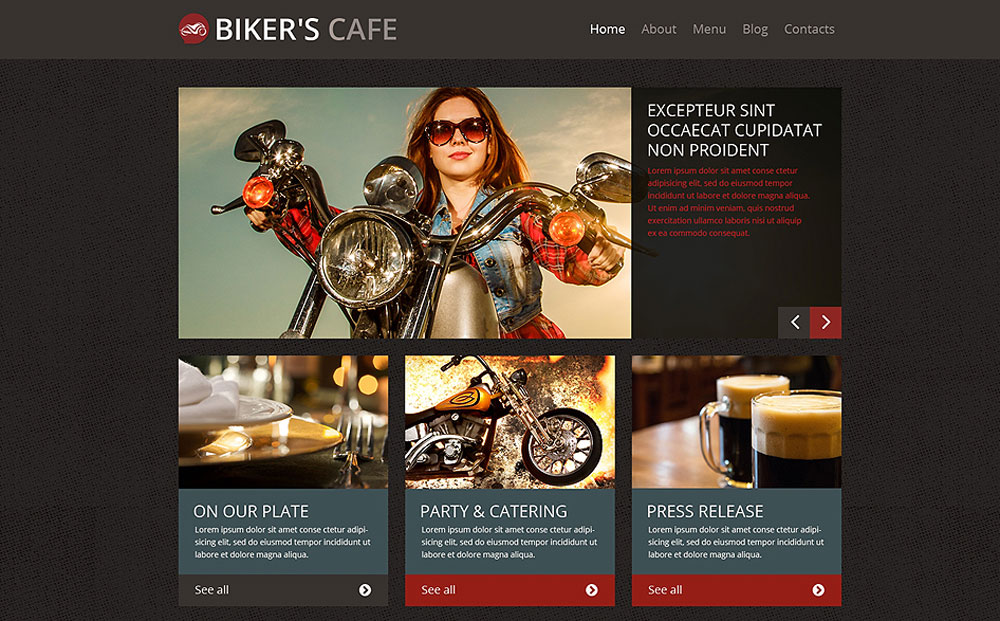 WordPress Theme for a BBQ Restaurant