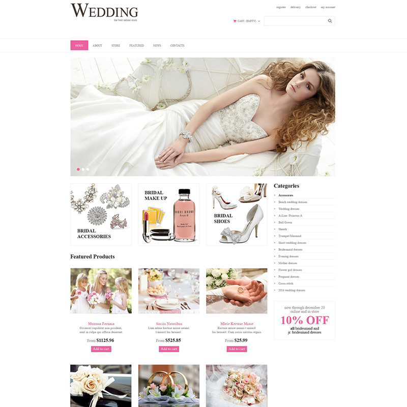 Wedding Venues Responsive WooCommerce Theme