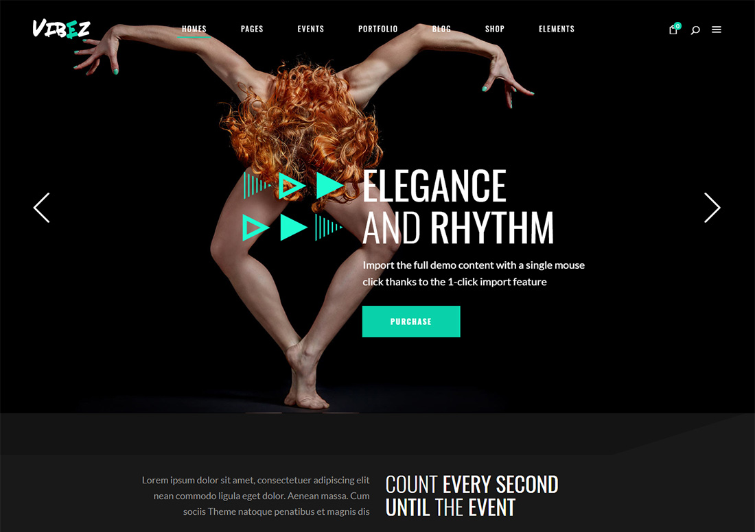 Vibez - WordPress theme for dance studio