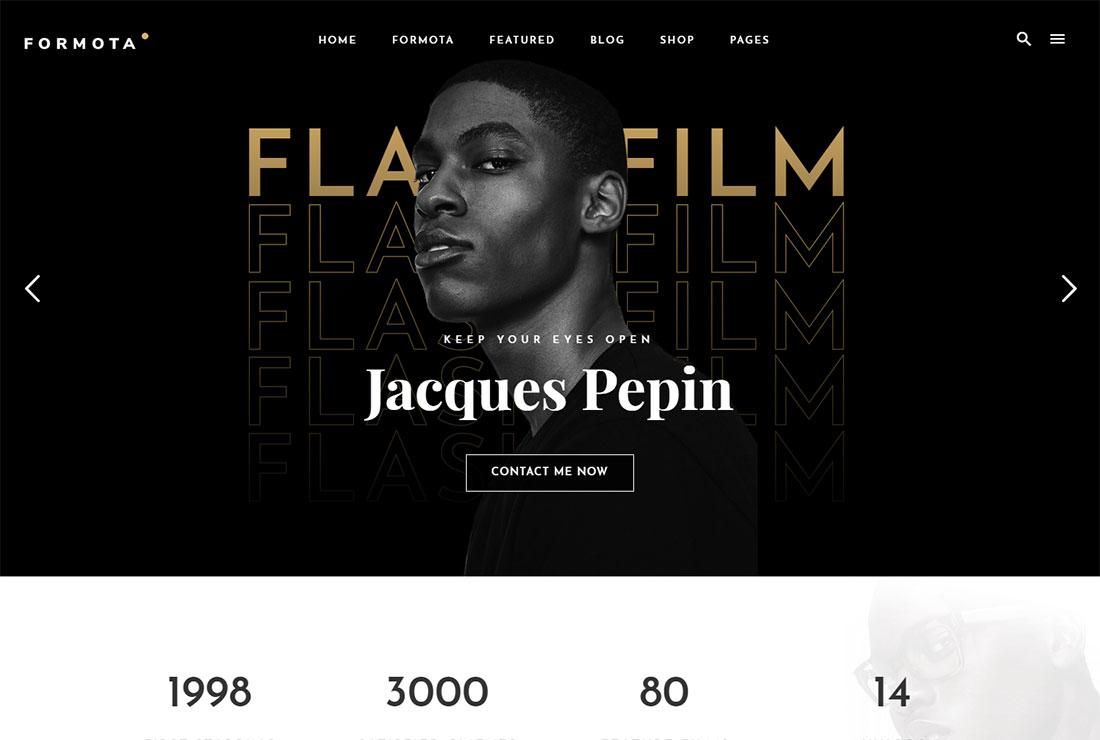 Formota Actor Website Template