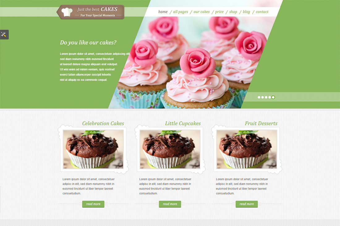JustCakes - HTML5