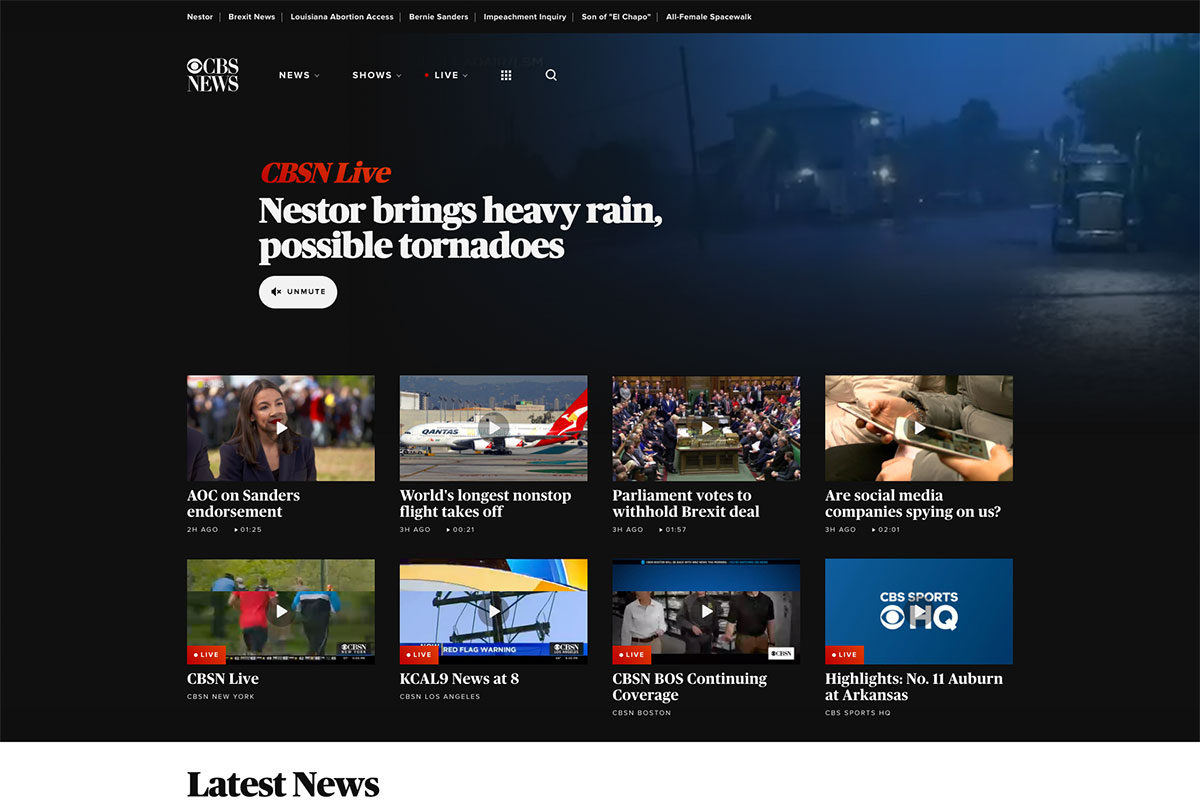 CBS News website