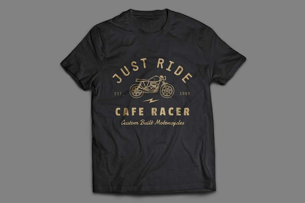 black t-shirt mockup