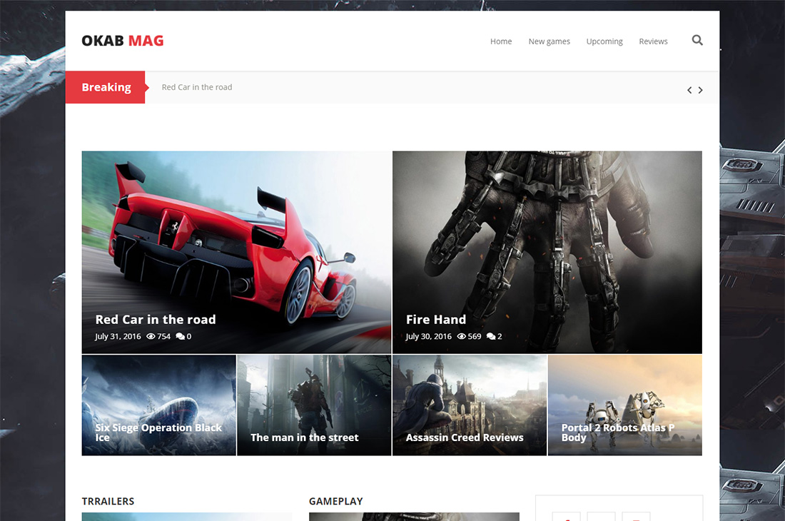 okab cars magazine wordpress themes