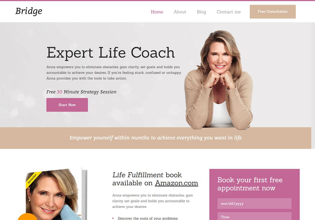 Bridge - Life Coach WordPress theme