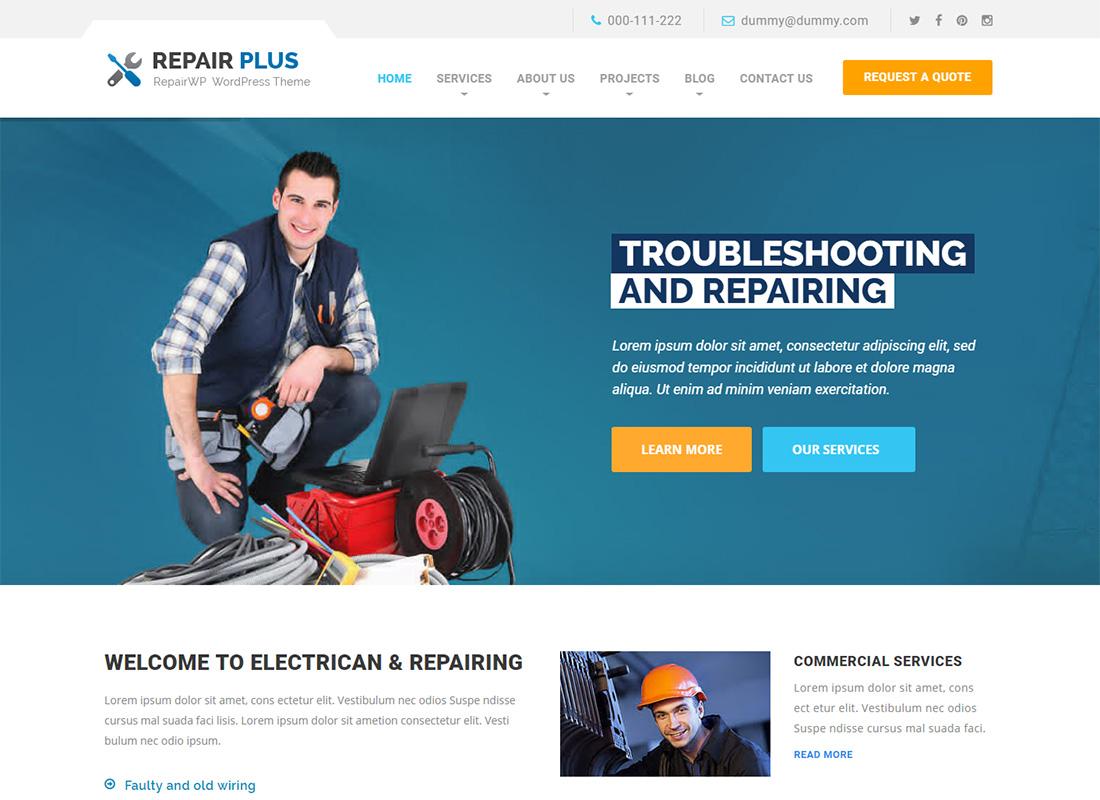 RepairWP Repair Computer Repair WordPress Themes