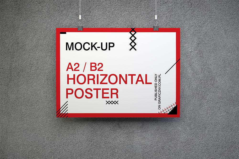 30 Horizontal Poster Mockups For Effective Marketing Colorlib
