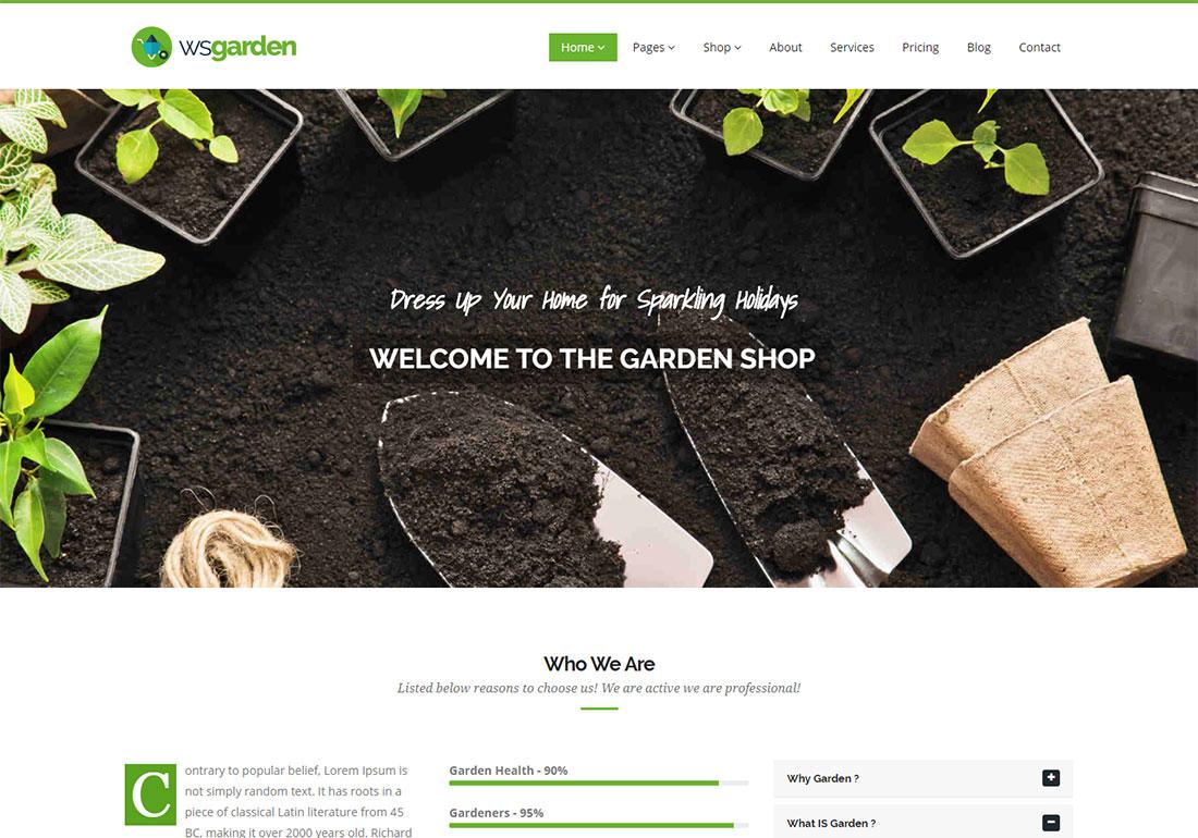 WS Garden Landscaping Website Template