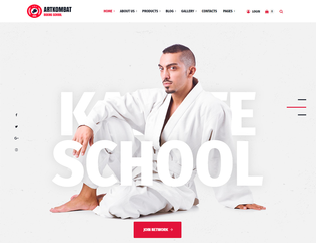 Art Kombat Martial Arts WordPress Theme