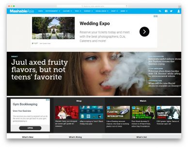 Newspaper Website Design