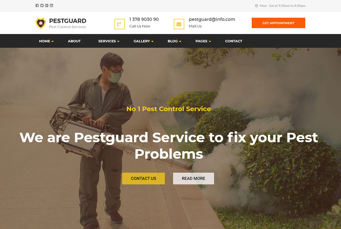 PestGuard Pest Control WordPress Theme