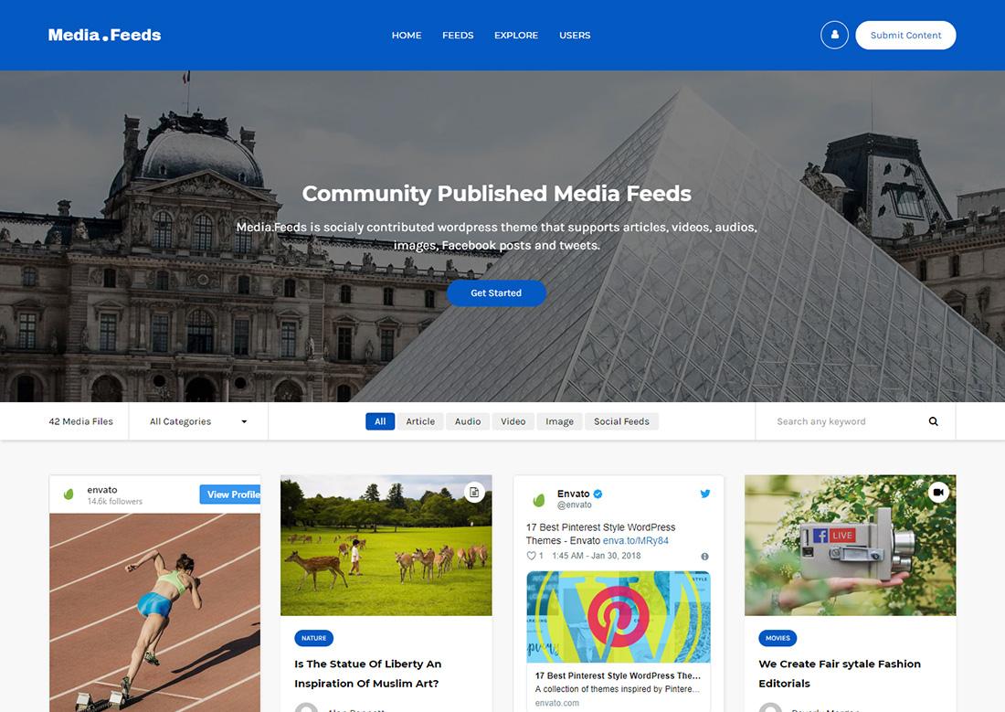 uploader photo sharing WordPress theme
