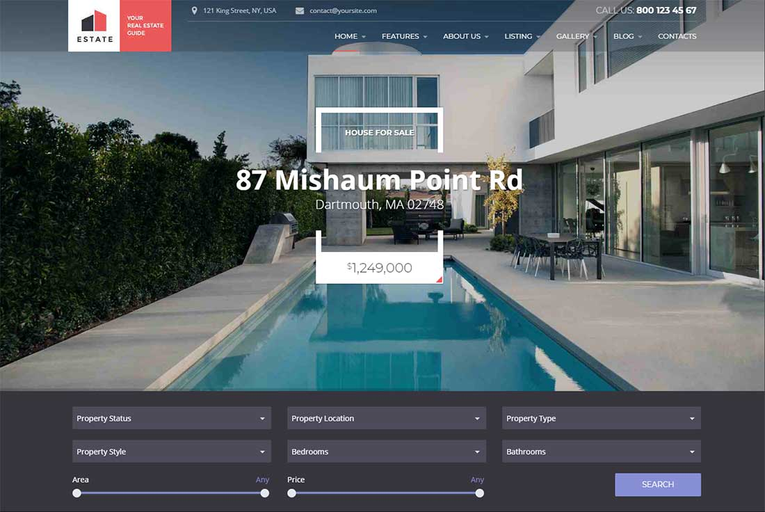 Estate - Property rental WordPress theme
