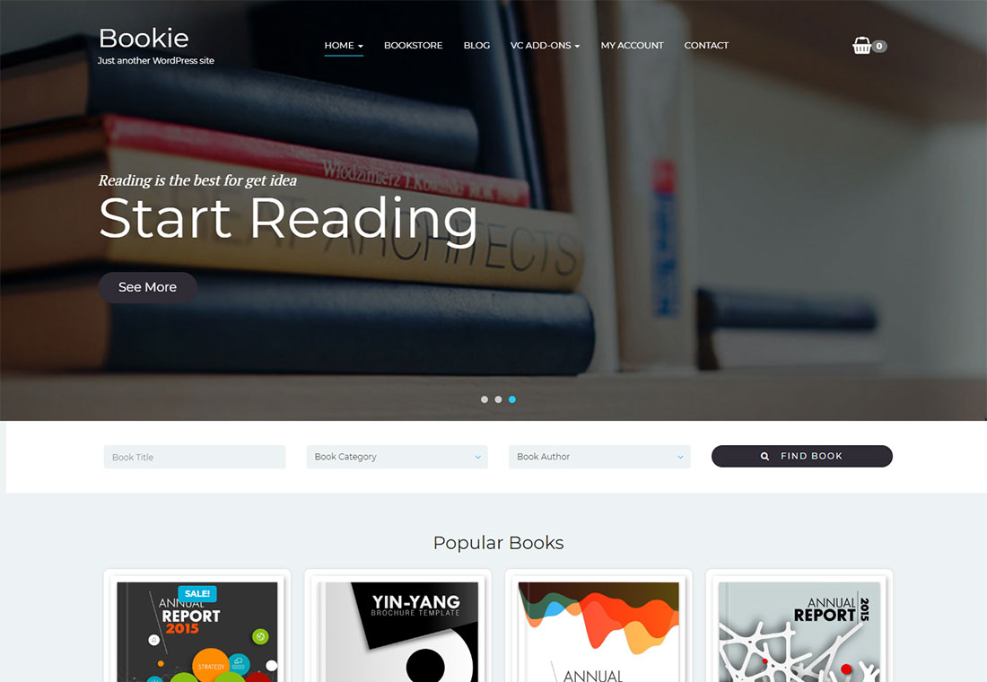 Bookie - Single Product WordPress Theme