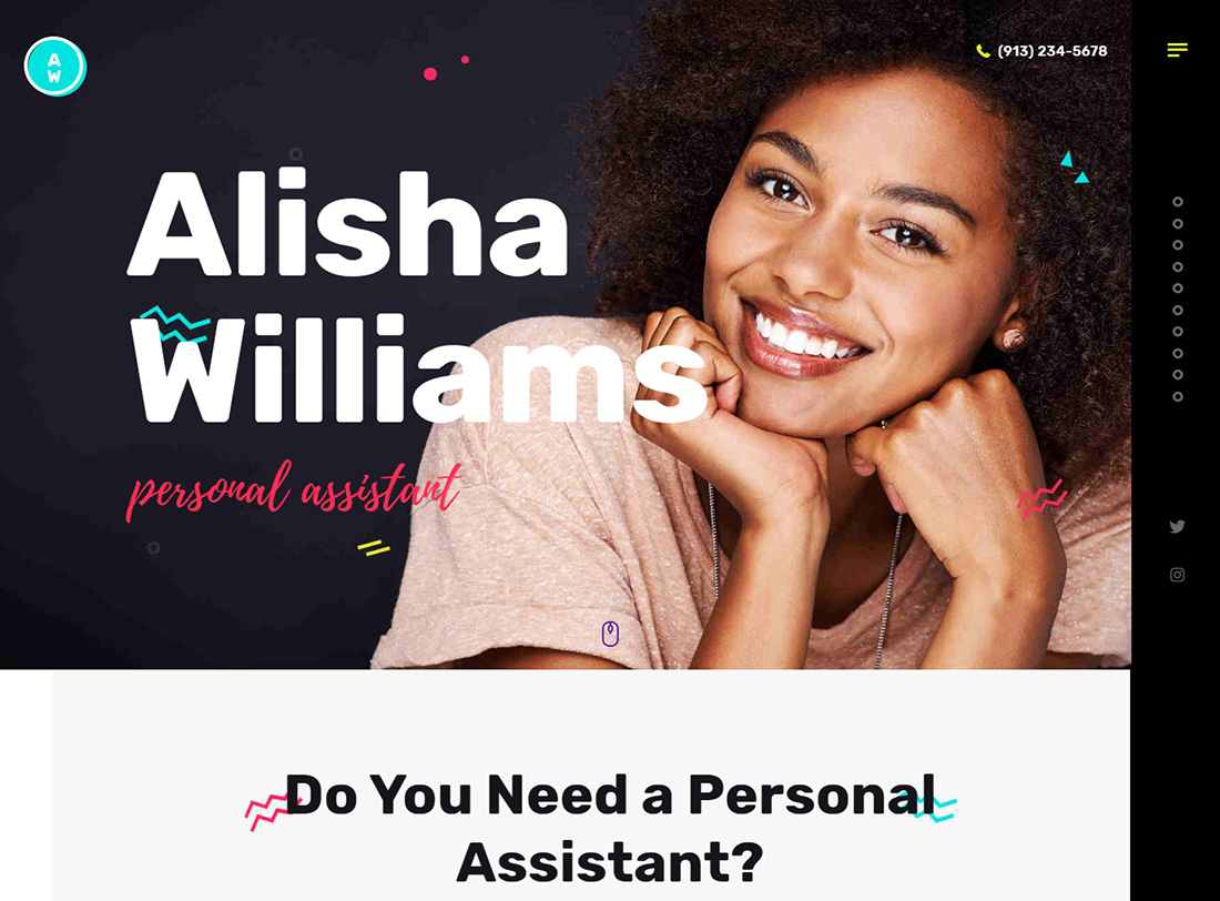 A. Williams Virtual Assistant Website Templates