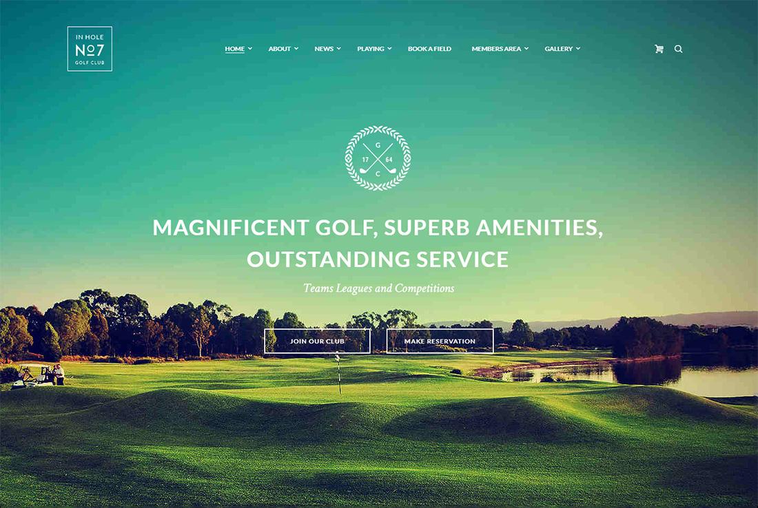 N7 WordPress Golf Theme