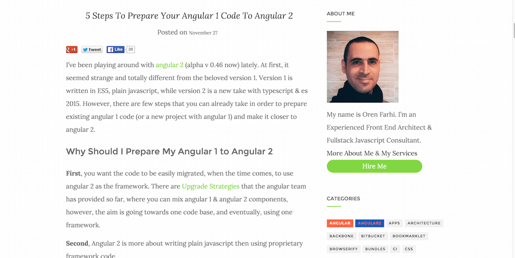 5 Steps To Prepare Your Angular 1 Code To Angular 2 – Oren Farhi – Thoughts On Javascript and Development