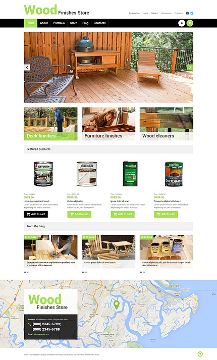 Best Wood Finishes Store WooCommerce Theme