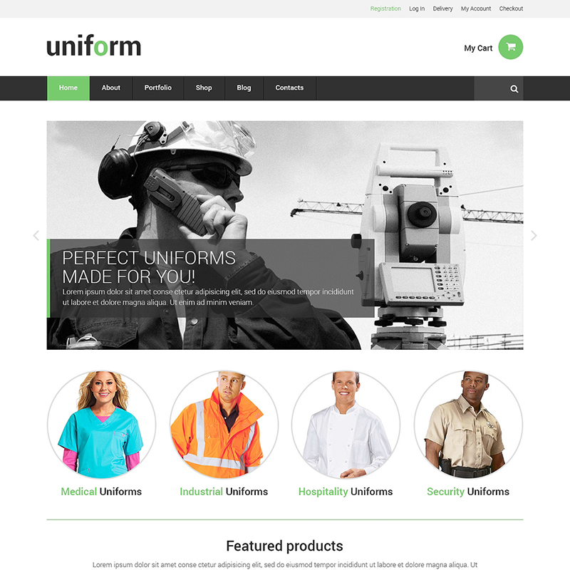 Uniform Store Responsive WooCommerce Theme