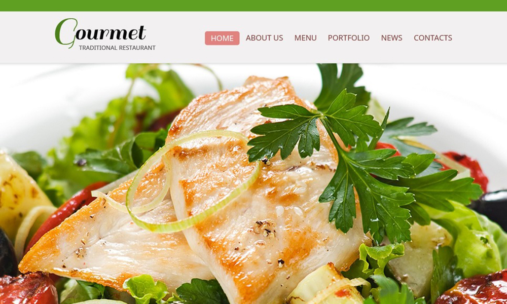 Free Website Template - Restaurant