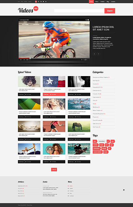 Video Content WordPress Theme