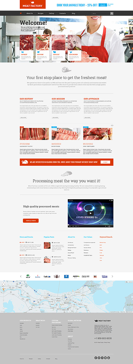 Ecologically Pure Meat WordPress Theme