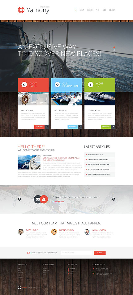 Boating WordPress Theme