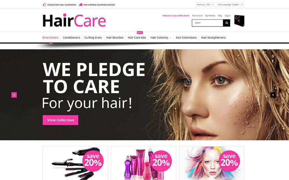 Hair&Style: Haircare Responsive Magento E-store