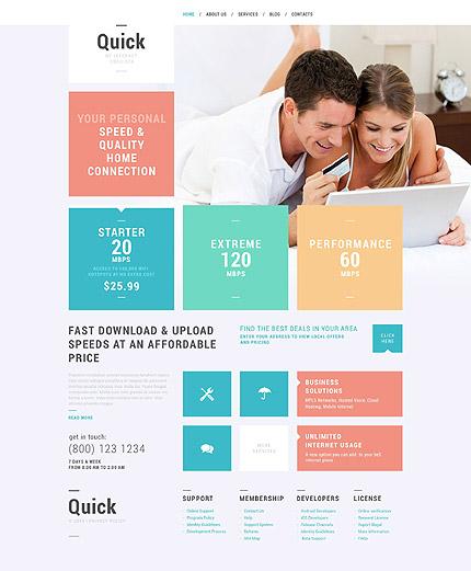 Internet Services WordPress Theme