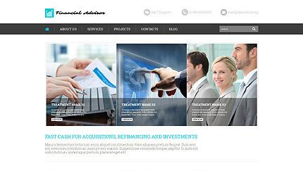 Financial Advisor WordPress Template