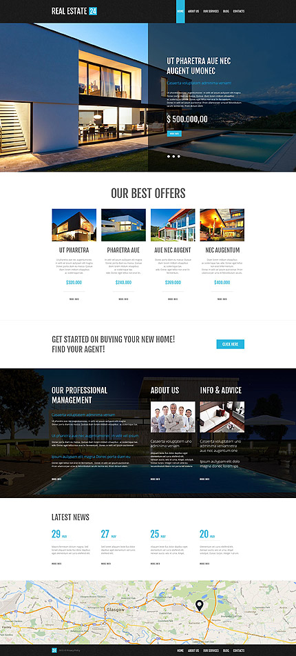 Realtor Company WordPress Theme