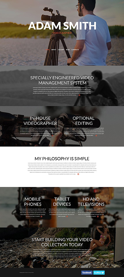 Videographer Responsive WordPress Theme
