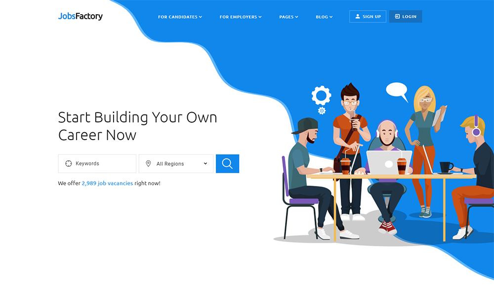 JobsFactory - Job Listing Template