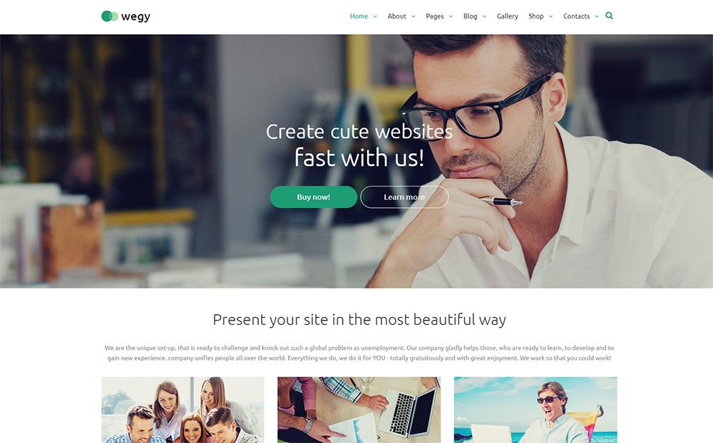 Wegy - Business Journal Joomla Theme