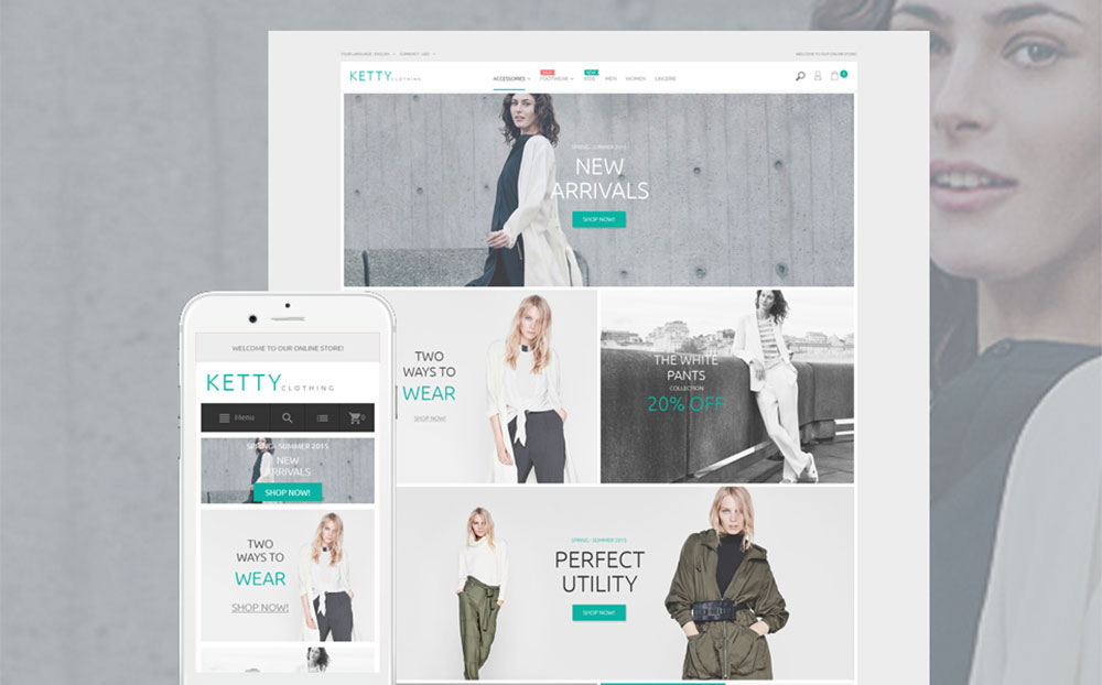 Ketty: Responsive Magento Theme for a Fashion Store