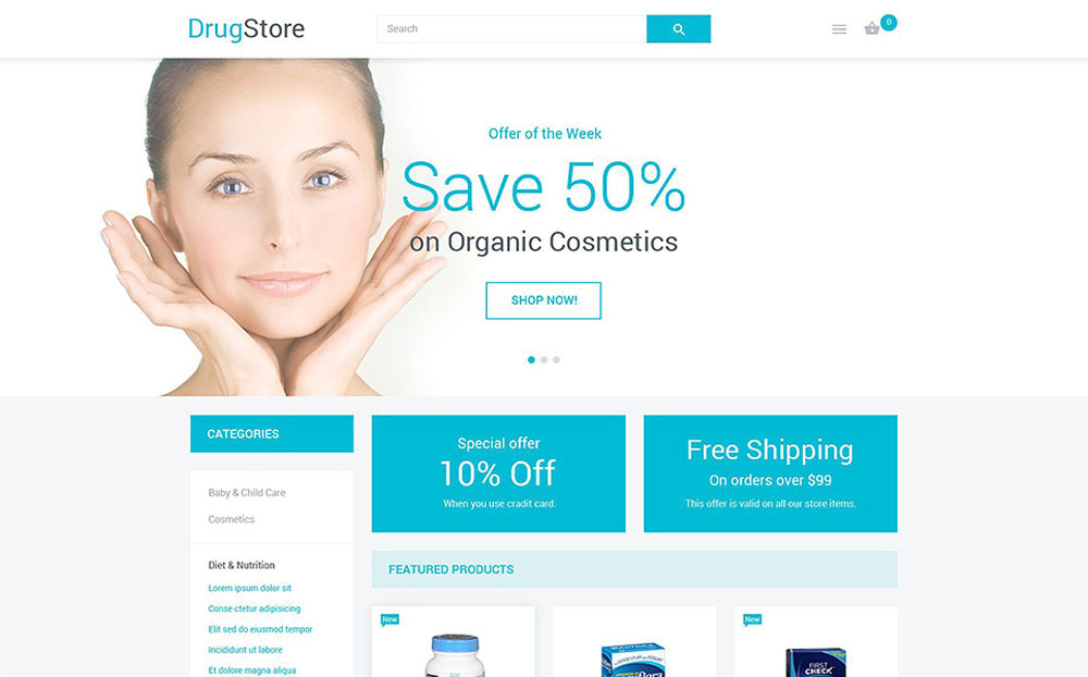 HealthGuard: Drugstore Responsive Magento Template