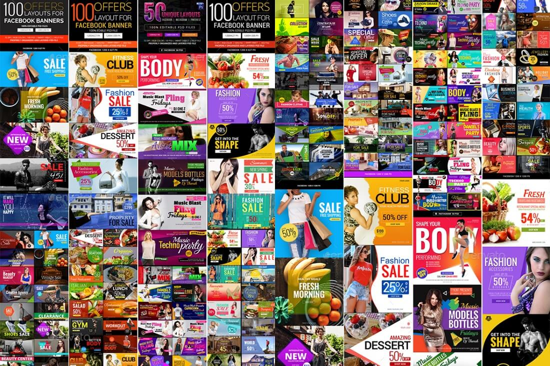 550 facebook banner bundle