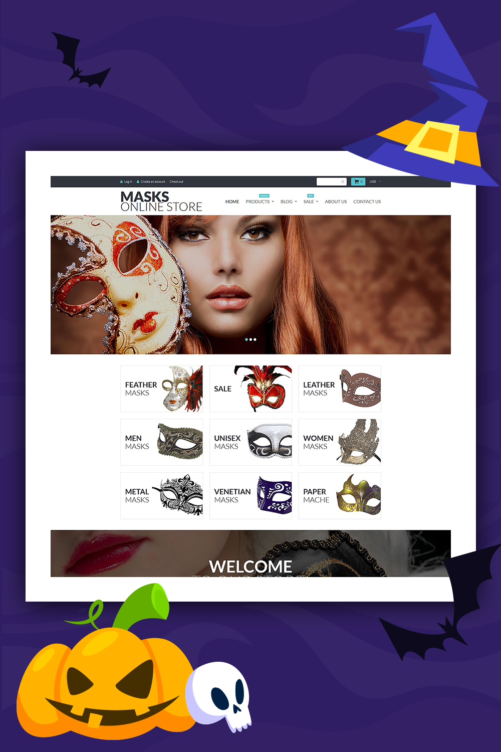 Masks - Entertainment Shopify Store Template