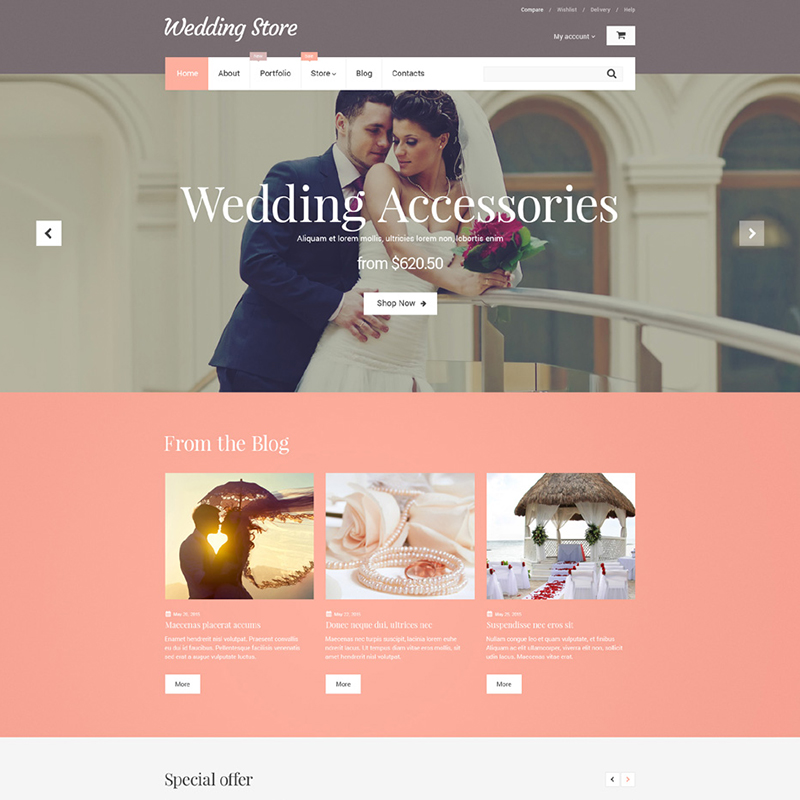 Wedding Supplies WooCommerce Template