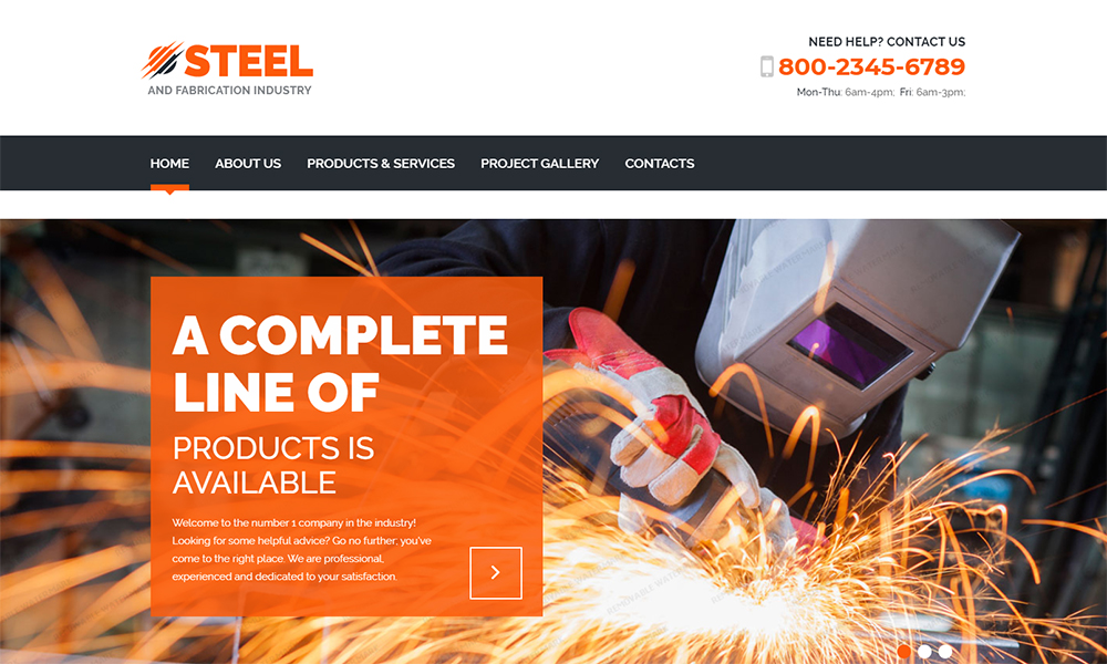 Steel and Fabrication Industry Responsive HTML template