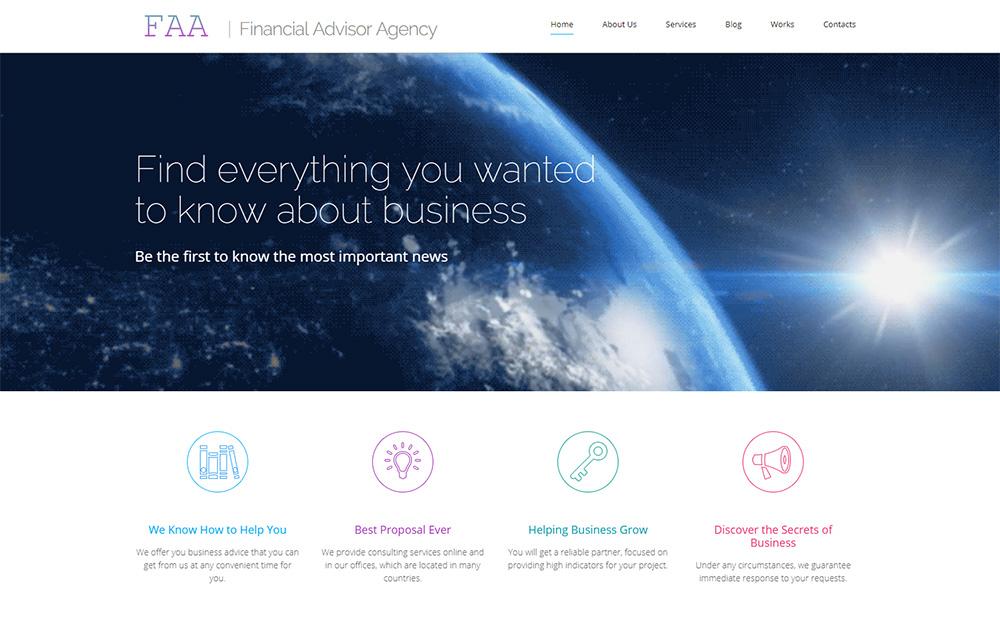 Financial Planner Website Builder | Responsive Moto CMS 3 Template