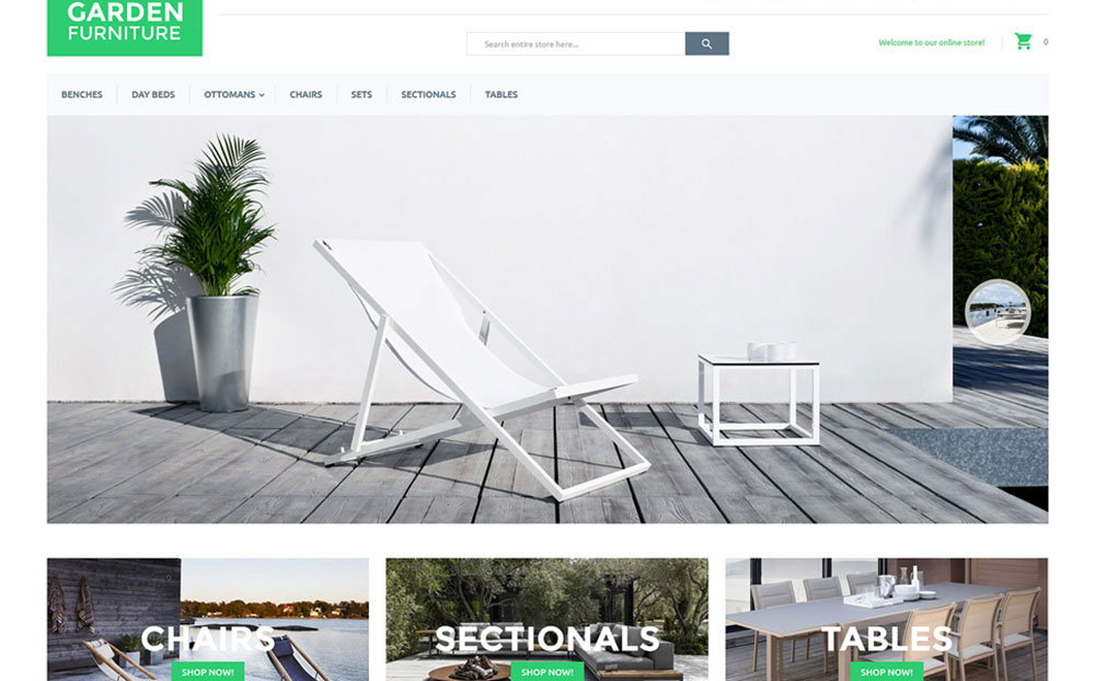 Modern Garden Furniture Magento Template