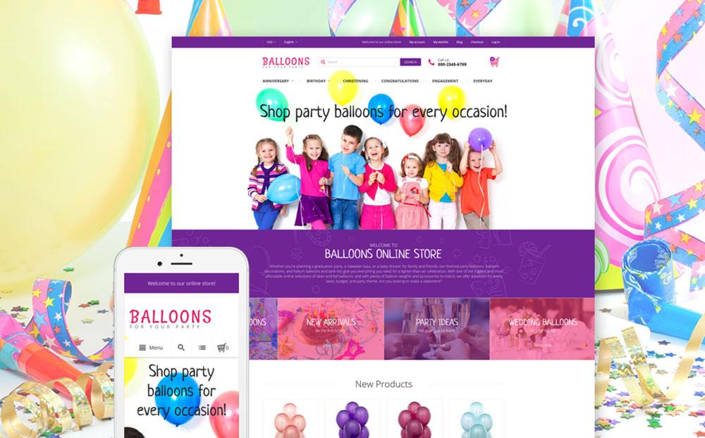 Celebrate: Festive Ballons Shop Magento Design