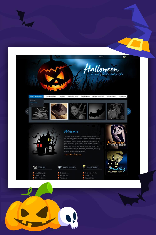 Halloween PSD Template