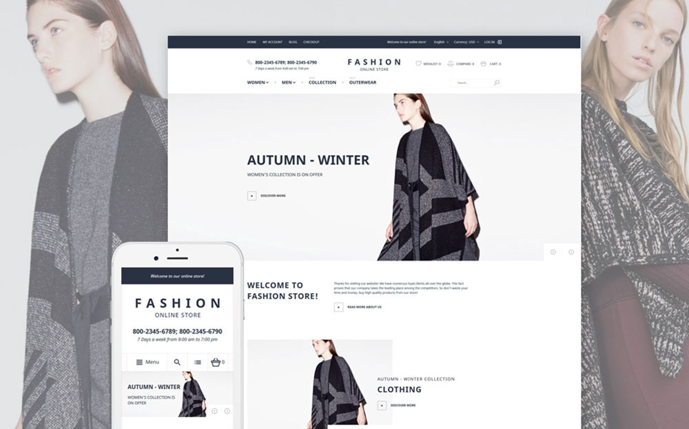 All for Ladies: Clothing Store Responsive Magento Theme