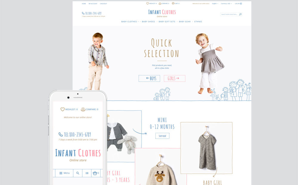 Small&Cute: Kinds Clothes Responsive Magento E-store