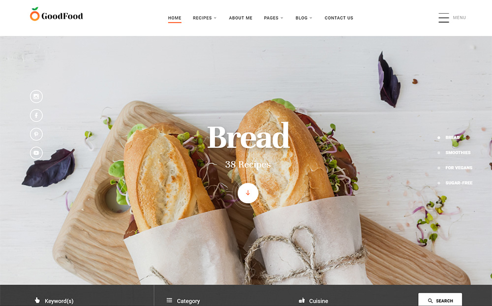 Recipes Website Template