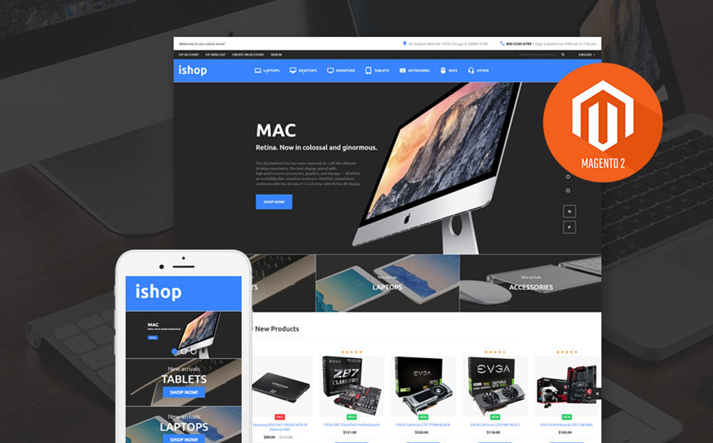 iShop: Electronic Store Magento Template